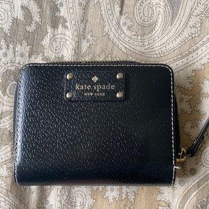 Kate Spade black zip up wallet